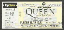 Argentina Queen + Paul Rodgers Concert Ticket Stub 2008