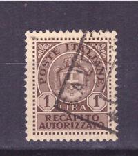 FRANCOBOLLI Luogotenenza Recapito Autorizzato  1946 1 Lira SAS7