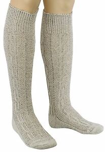 Bavarian White & Brown Mix OKTOBERFEST / CAUSAL Lederhosen Socks Pairs.