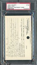 1933 Goudey #182 Andy High Original Copyright Patent Proof Registration Card PSA