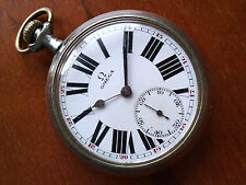 Omega pocket watch rare dial cleaned & lubed nice running