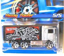 2006 Hot Wheels TAG RIDES #75 ∞ HIWAY HAULER ∞ SILVER W/PR5 WHEELS
