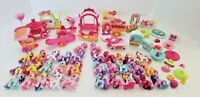 HUGE Lot My Little Pony Ponyville 32 Ponies Play Accessories Collectors Guide