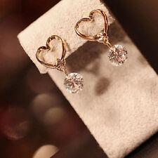 Elegant Women Lady Girl Jewelry Ear Hook Dangle Crystal Rhinestone Earrings