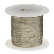 """18 AWG Gauge Tinned Copper Wire Buss Wire 100' Length 0.0403"""" Silver"""
