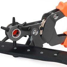 Revolving Leather Belt Eyelet Hole Punch Puncher Tool 6 Sizes UK
