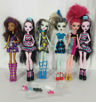 Mattel Monster High Doll Lot of 6 Budget Basic With Accessories