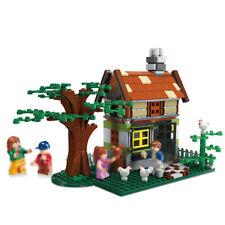 383pcs Little House Model Building Blocks with Figures Street View Toys Bricks