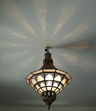 Lustre Marocain fer forgé h02 lampe lanterne plafonnier applique luminaire