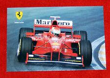 1999 Ferrari post card size Autographed Eddie Irvine F1 picture