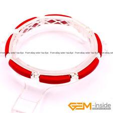 "5x20mm Rectangle Gemstone Bracelet Tennis Link Tibetan Silver Fashion Jewelry 7"""