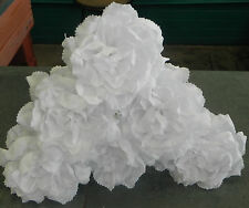 Mexican Crepe Paper Flowers Set of 6 White Wedding Roses Fiesta Special Orders