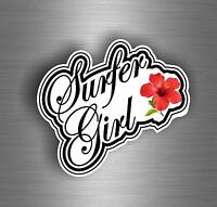 Paddleboard Hibiscus Flower vinyl decal//sticker 3x6 surfboard summer beach