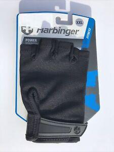 Harbinger Power Strength Gloves Fitness 15550 Black Lifting Gym XXL A3