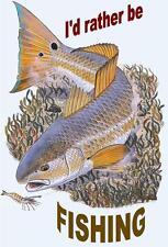 Fishing # 16 - 8 x 10 - T Shirt Iron On Transfer - I rather be fishing