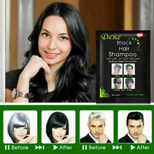 10 pcs Instant DEXE Black Hair Shampoo Black Hair Dye in 5 Minutes Easy to Use