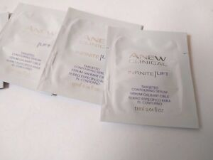 Avon Anew Clinical Infinite Lift Targeted Contouring Serum Set of 5 Sample Packs