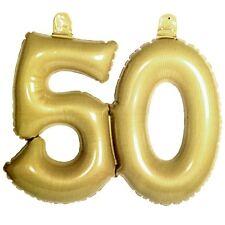 aufblasbare Zahl 50 Gold Hochzeit DEKO Goldhochzeit Ballon