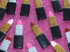 6 Pcs Glitter Lipstick Make Up Resin Flatback Cabochon Craft DIY Decoden NEW