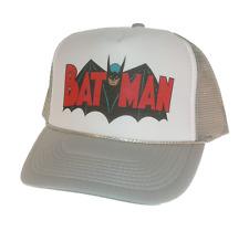 Batman movie hat Trucker Hat Mesh Hat grey new adjustable