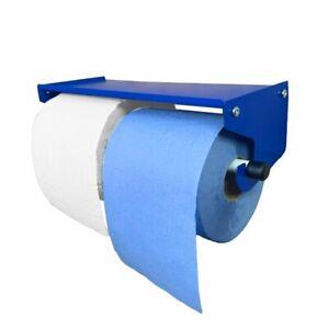 MegaMaxx UK™ Dual Industrial Paper Towel Blue Roll Holder Unit Workshop Garage