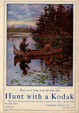 DEER HUNTING FROM CANOE BY A. B. FROST NO GAME LAWS HUNT WITH A KODAK CAMERA
