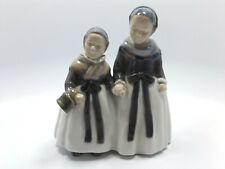 "Vintage Royal Copenhagen Figurine #1316 Amager Girls Shopping, 7 1/4"""