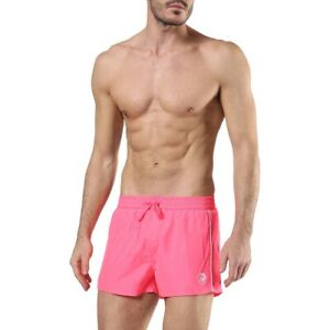 Diesel BMBX Sandy-E Mohawk Only The Brave Beach Swim Board Shorts Fuchsia Pink