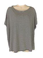 Cato Blouse Women/'s Size Large Orange White Stripe Short Sleeve Shirt 2051 NEW