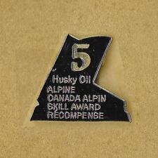 SKI CANADA HUSKY OIL SKILL ALPINE AWARD LEVEL 5 NIVEAU OFFICIAL PIN OLD