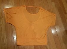 Womens Charlotte Russe blouse large orange short sleeve casual summer nwt