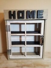 Homemade Decorative Hand Painted Rustic Farmhouse Wood Cabinet