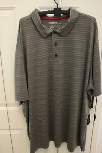 Adidas Golf Polo Grey/Pink Stripe, 4XL