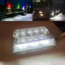 Bright White 22-LED Side Marker Lights For Commercial Truck Trailer Vehicle 24V