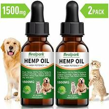 Hemp Oil for Dogs Cats - 2 Pack 1500mg - Separation Anxiety, Joint Pain,.