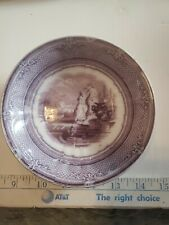 Pw & Co Minerva Pearl Stoneware Purple Two Ladies Plate Mulberry