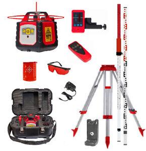 Fukuda FRE 302 - Builder's Rotary Laser Set c/w Receiver, Remote, Tripod & Staff