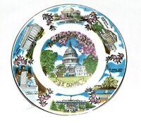 Vintage Souvenir Plate Washington DC US Capital Plus Historical Landmarks Japan