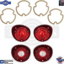 71 Chevelle Reverse Back Up & Taillight Tail Light Lamp Lens & GASKET Set - USA