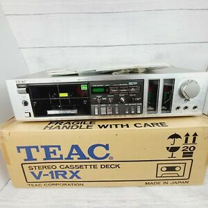 Vintage TEAC Stereo Cassette Deck V-1RX With Manual RARE! NEVER USED!