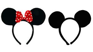 Adults Kids Minnie Mouse Ears Headband Disney Spotted Bow Ladies Fancy Dress