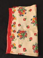 Original Vintage 1930's Tea Towel - Beautiful Strawberry Pattern