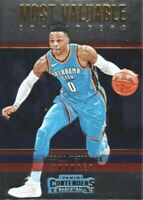 2018-19 Panini Contenders Most Valuable #9 Russell Westbrook OKC Thunder