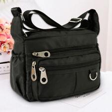 Women Ladies Multi Pocket Messenger Handbag Cross Body Bags Fashion Shoulder Bag