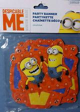 FESTONE STRISCIONE HAPPY BIRTHDAY CATTIVISSIMO ME MINION 3,5 m FESTA COMPLEANNO