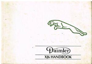 JAGUAR / DAIMLER XJ40 3.2 & 4.0 L SALOON ORIG. 1991 OWNERS INSTRUCTION HANDBOOK