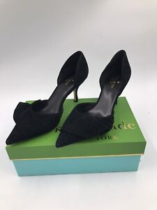 Kate Spade New York Black Suede Pointed Heels Women's Shoe Size 10M Vero Cuoio