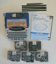 Brother P-Touch 1750 Label Maker with User's Guide and 6 Tapes