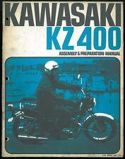 Manual KAWASAKI KZ 400 - Z400 Twin 1974 Assembly & Préparation Manuel de Montage