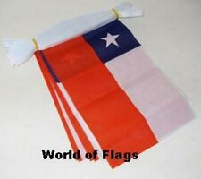 CHILE BUNTING Chilean Flag 9m 30 Fabric Party Flags South America 9 Metres